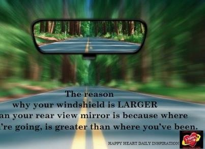 Looking in my Rearview Mirror – Temporary Lumps